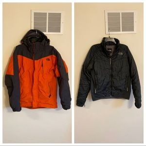 Men's North face 3 in 1 winter jacket